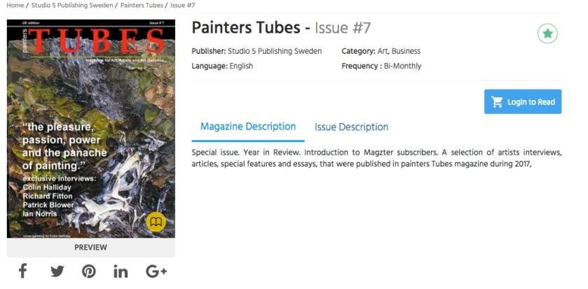 painters Tubes is now on Magzter